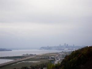 Vue sur Québec pendant l'ascension