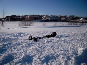 Tempête de neige sur Sherbrooke, mars 2011