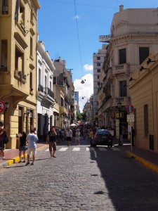 Les rues pavées de San Telmo