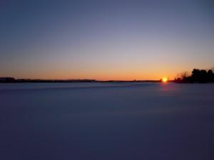 Coucher de soleil polaire
