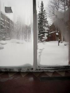Condensation + froid extérieur = glace