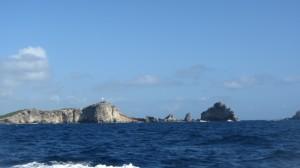 La pointe des châteaux, vue du large