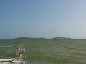 Les îles du Salut, vues depuis la navette.