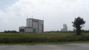 Les bâtiments d'assemblage d'Ariane 5.